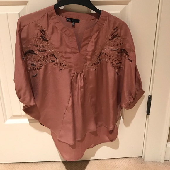 hot-selling clearance variety styles of 2019 authentic quality Rose gold blouse